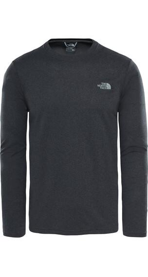 The North Face Reaxion Amp Crew Hardloopshirt lange mouwen Heren grijs